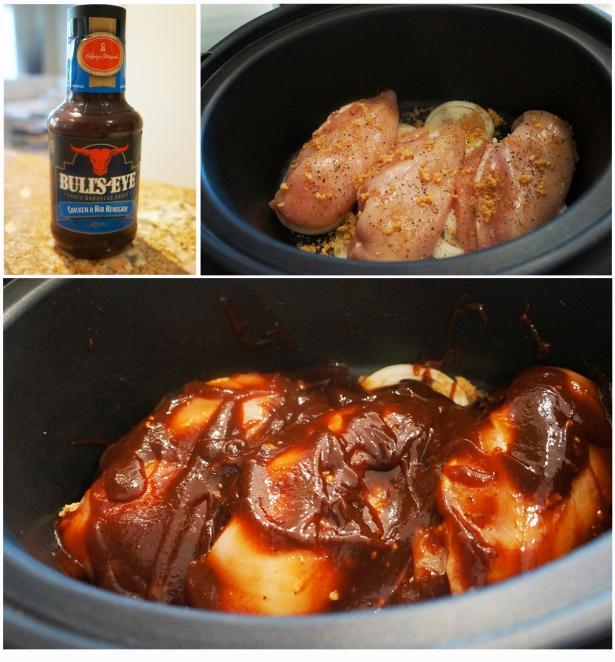 ingredient slow-cooker BBQ pulled chicken sliders | Lazygirl Gourmet